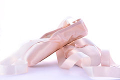 Pointe Ballet Shoes Royalty Free Stock Photos