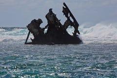 Pointe D'Esny,  Ship Wreck of the Dalblair, unfortunate shipwreck. Royalty Free Stock Photo