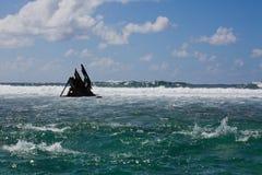 Pointe D'Esny,  Ship Wreck of the Dalblair, unfortunate shipwreck. Stock Photo