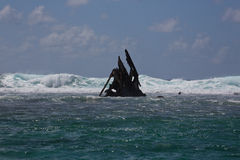Pointe D'Esny,  Ship Wreck of the Dalblair, unfortunate shipwreck. Stock Images