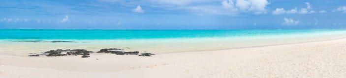 Pointe d`Esny beach, Mauritius. Panorama Stock Image