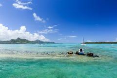 Pointe D `-Esny strand, Mauritius Royaltyfria Bilder