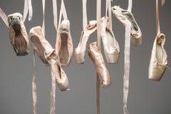 Pointe de chaussures de ballet d'isolement Photo libre de droits
