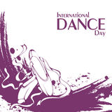 Pointe de jour de danse Images libres de droits