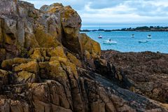 Pointe de l`Arcouest - Cotes d` Armor. Brittany, France Royalty Free Stock Photo