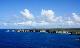 Pointe de la Grande Vigie在瓜德罗普 库存图片