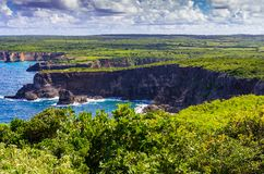 Pointe de la Grande Vigie, Anse-Bertrand, Grande-Terre, Guadeloupe royalty free stock images