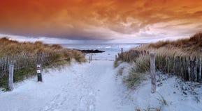 Pointe de la torche  beach in Brittany  coast. Pointe de la torche beach in  audierne bay Stock Photo