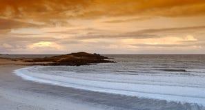Pointe de la Torche beach in Brittany. Coast Stock Photos