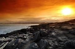 Pointe de la torche in Brittany  coast. Pointe  de la torche coast in audierne bay Stock Image