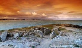 Pointe de la torche  rocks in Brittany  coast. Pointe de la torche rocks in  audierne bay Stock Photo