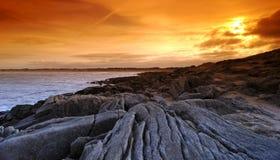 Pointe de la torche in Brittany  coast. Pointe de la torche rocks in  audierne bay Royalty Free Stock Images