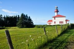 Pointe de Mitis Lighthouse, Quebec Royalty Free Stock Photos