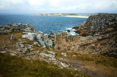Pointe de Pen Hir in Brittany, France, beautiful scenery. Pointe de Pen Hir in Brittany, Finistere, France Stock Photos