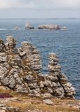 Pointe de Pen Hir landscape in Brittany, France. Pointe de Pen Hir in Brittany, Finistere, France Royalty Free Stock Image