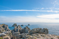 Pointe de Pen-Hir in Brittany. Rocky coastal scenery around Pointe de Pen-Hir in Brittany, France Royalty Free Stock Photography