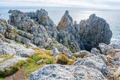 Pointe de Pen-Hir in Brittany Stock Image