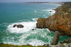 Pointe de Pen-Hir. Crozon peninsula, Brittany Stock Photography