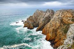 Pointe de Pen-Hir. Crozon peninsula, Brittany Royalty Free Stock Images