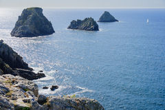 The pointe de Pen-Hir. Crozon peninsula in Brittany, France Royalty Free Stock Photography