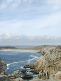 Pointe de Penhir和du Toulinguet在布里坦尼 库存图片