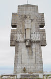 Pointe de Penhir memorial. Also known as the Cross of Pen-Hir in Presqu'ile de Crozon, Brittany, France. Monument to the Bretons of Free France Royalty Free Stock Image