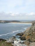 Pointe de Penhir y du Toulinguet en Bretaña Foto de archivo libre de regalías