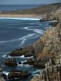 Pointe de Penhir y du Toulinguet en Bretaña Imagen de archivo