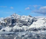 Pointe de Plate - las montañas francesas Imagenes de archivo