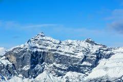 Pointe de Plate - les Alpes français Images stock