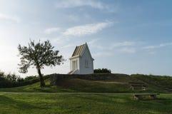 Pointe DE Sainte-Barbe in heilige-Jean-DE-Luz, Baskisch land, Frankrijk - Beeld royalty-vrije stock afbeelding