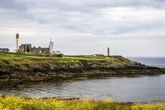 Pointe DE St Mathieu, Finistère, france> Royalty-vrije Stock Afbeelding