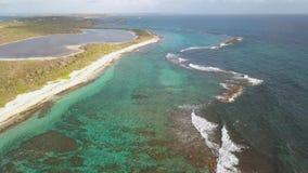 Pointe des大别墅美丽的景色,半岛,格朗德特尔岛,瓜德罗普,加勒比 影视素材