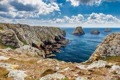 Pointe du Ручка-Hir на полуострове Crozon, отдел Finistere, стоковое фото