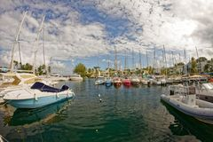 Pointe Du Atak Marina, Trois-Ilets, Martinique - fotografia royalty free