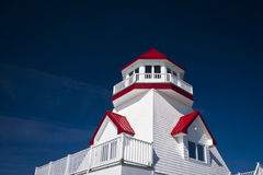 Pointe du Chene Lighthouse Royalty Free Stock Photography