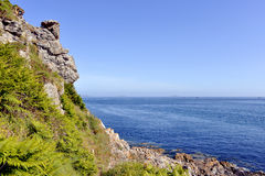 Pointe du château of Trestrignel in France Stock Images