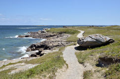Pointe du Conguel at Quiberon peninsula in France Royalty Free Stock Image