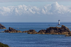 Pointe du Groin and Lighthouse of Pierre-de-Herpin stock images