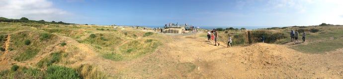 Pointe du Hoc全景,法国 库存照片