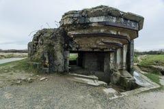 Pointe Du Hoc в Нормандии, месте нашествия ренджера во время Wo стоковое фото rf