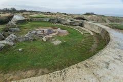 Pointe Du Hoc в Нормандии, месте нашествия ренджера во время Wo стоковое фото