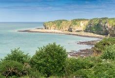 Pointe du Hoc - чудесное побережье Нормандии стоковая фотография rf