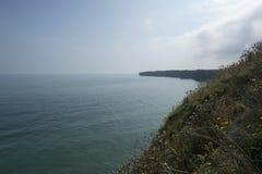 Pointe du Hoc battlefield, France Royalty Free Stock Photo
