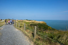 Pointe du Hoc battlefield, France Royalty Free Stock Image