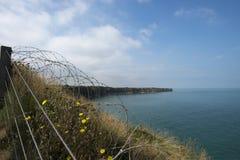 Pointe du Hoc battlefield, France Royalty Free Stock Images