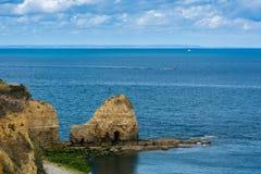 Pointe Du Hoc em Normandy fotografia de stock