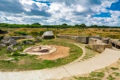 Pointe Du Hoc em Normandy foto de stock