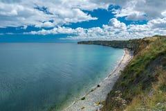 Pointe Du Hoc em Normandy imagens de stock