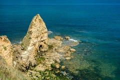 Pointe Du Hoc em Normandy imagem de stock